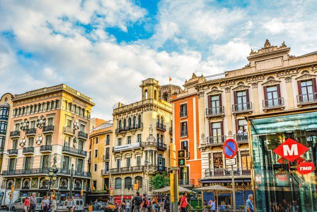 Imagen de una calle de Barcelona