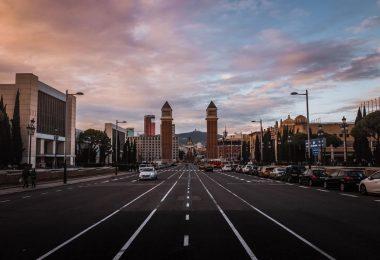 aparcar en Barcelona en Montjuïc