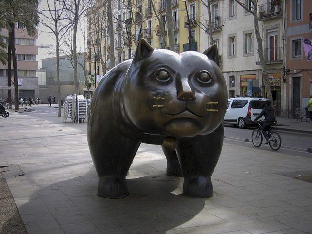 El gato del Raval de Botero