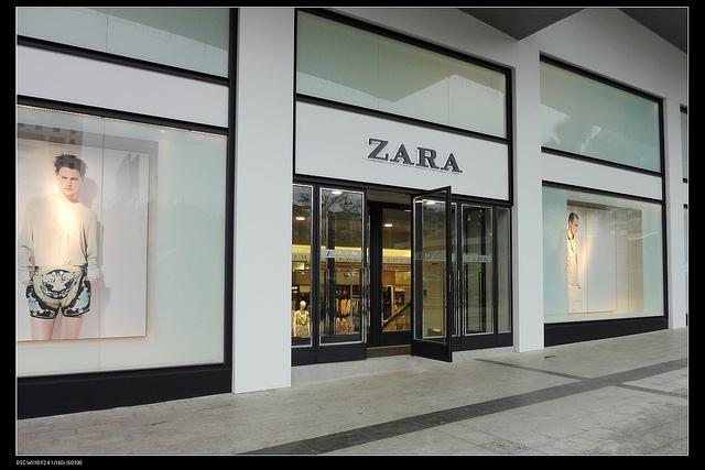Escaparate de una tienda de Zara