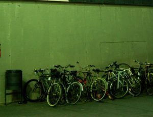 Bicis aparcadas en Barcelona