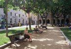 Una de las zonas tranquilas de El Raval