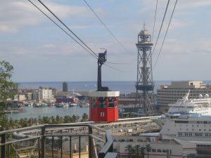Teleférico puerto de Barcelona