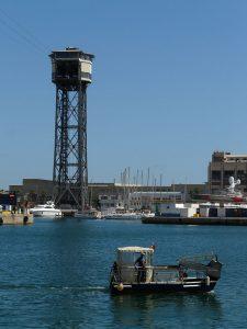 Teleférico puerto de Barcelona, Torre de San Sebastián