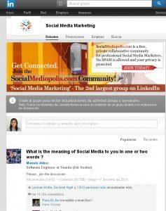 Comunidad Social Media