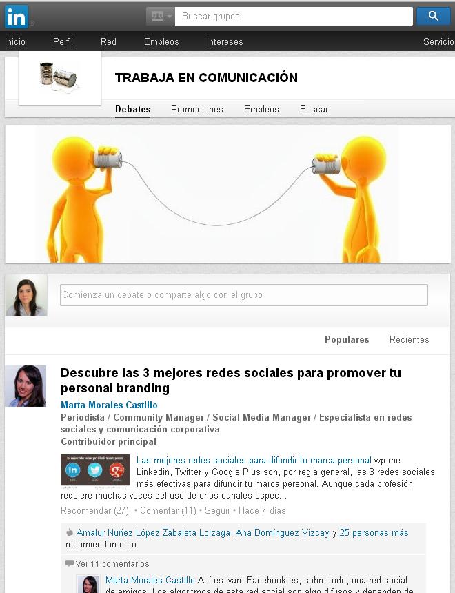 Comunidad Trabajar en Comunicación