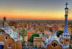 Atardecer en Barcelona desde Parc Güell