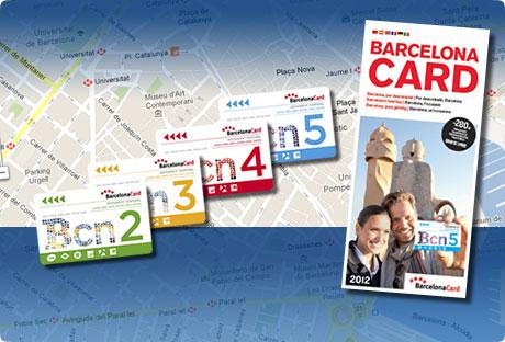 Mapa y guía con Barcelona Card