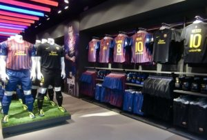 Interior Botiga del Barça