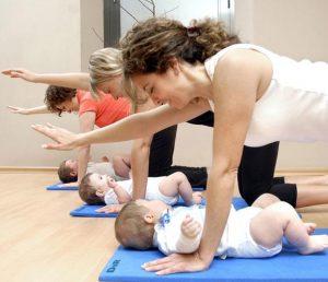 Pilates con bebés en Barcelona