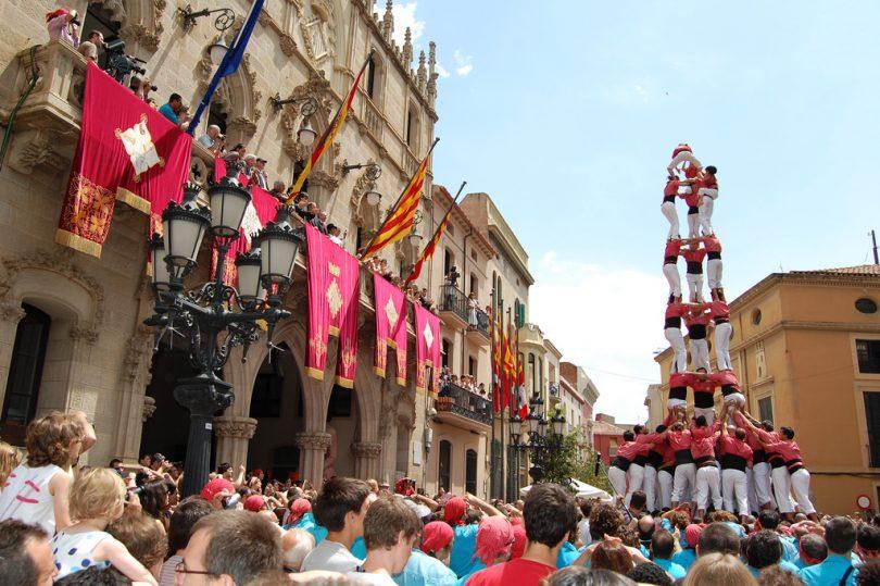 d nde ver castellers en barcelona