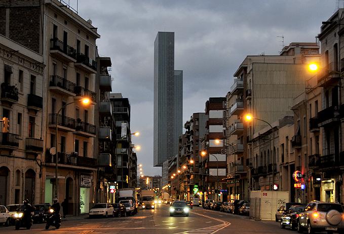 calle pere iv en el distrito 22@ de barcelona