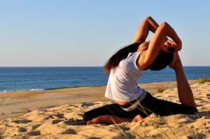 Yoga en la Barceloneta