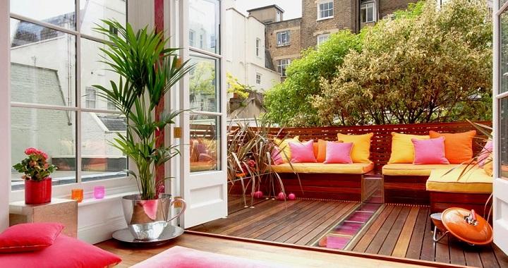 Ideas para decorar una terraza diario de viaje barcelona - Ideas para decorar un porche cerrado ...