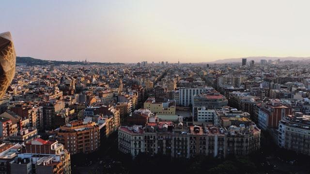 foto aérea de l'Eixample Barcelona