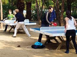 Parques con mesas de ping pong en Barcelona