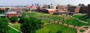 imagen desde el aire del campus universitario de la UAB