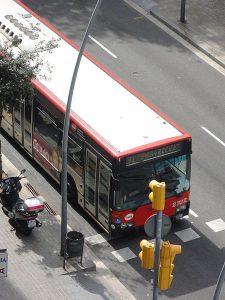 red de autobuses en Barcelona