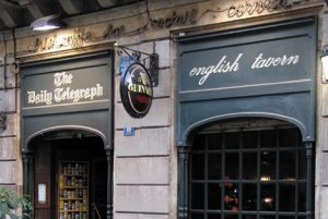Pubs en el eixample , The daily Telegraph