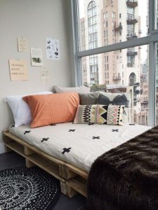 Ideas para decorar con palets, cama
