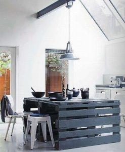 Ideas para decorar con palets, mesa cocina