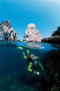 Planea unas vacaciones en la costa brava, submarinismo