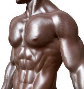 Hombre musculado sin camiseta
