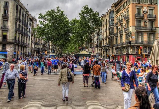 la rambla ciutat vella barcelona