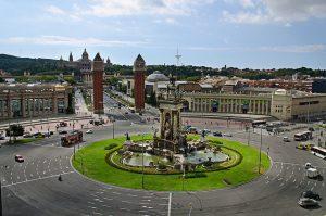 vista desde arriba de la plaza españa