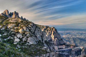 vistas de montaña de Montserrat