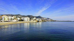 Vista de Sitges desde el mar