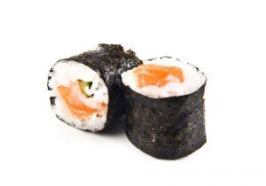 Imagen de un maki de salmón