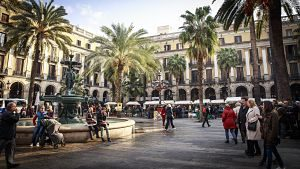 Imagen de la Plaza Real de Barcelona