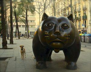 la escultura del Gat del Raval