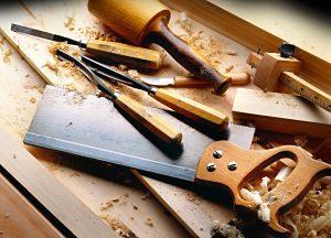 Imagen de las herramientas de un carpintero