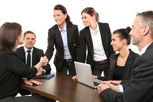 Imagen de una reunión laboral
