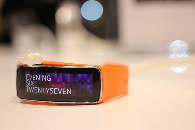 Imagen de una pulsera de actividad inteligente