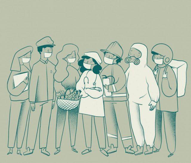 ilustración personal covid