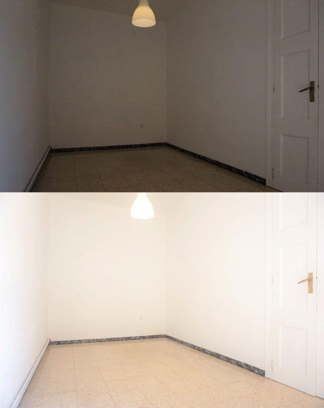 Antes e depois quarto