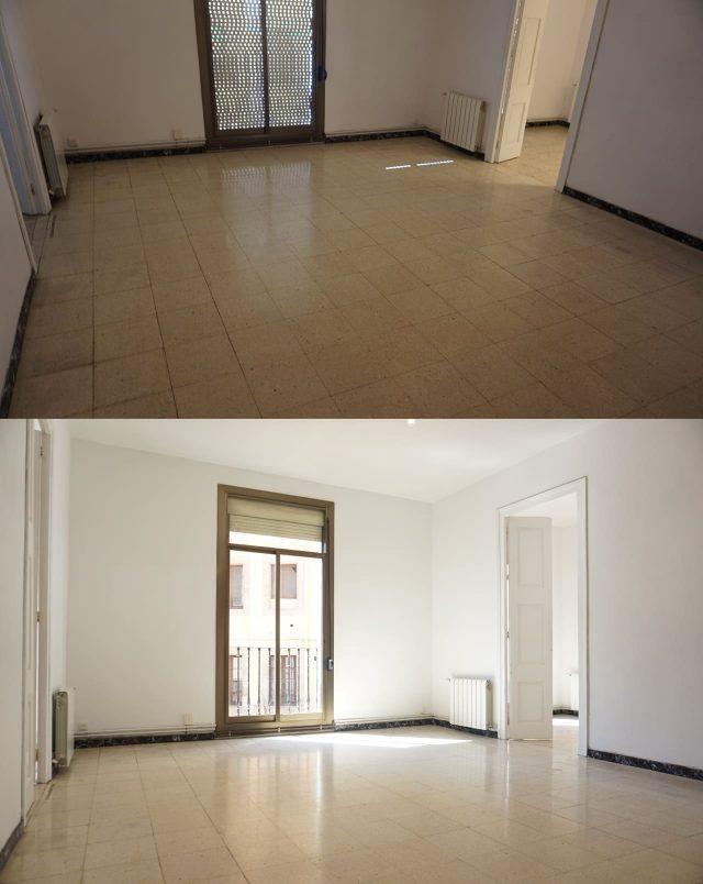 Antes y después habitación