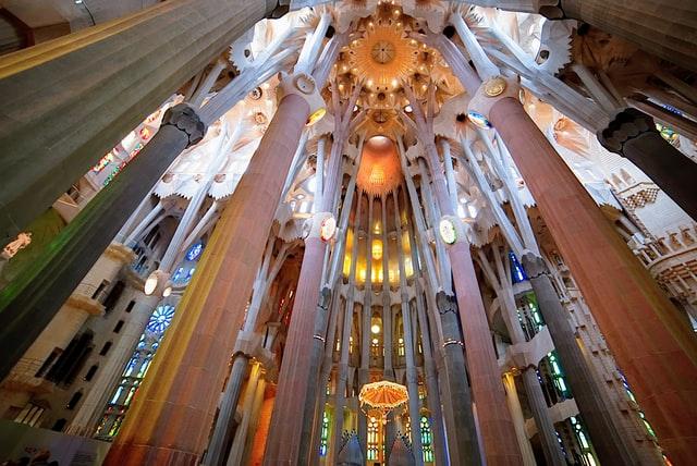 Interior de la Sagrada Família