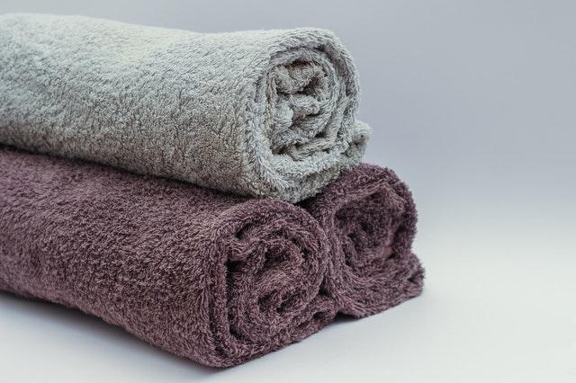 Imagem de toalhas enroladas