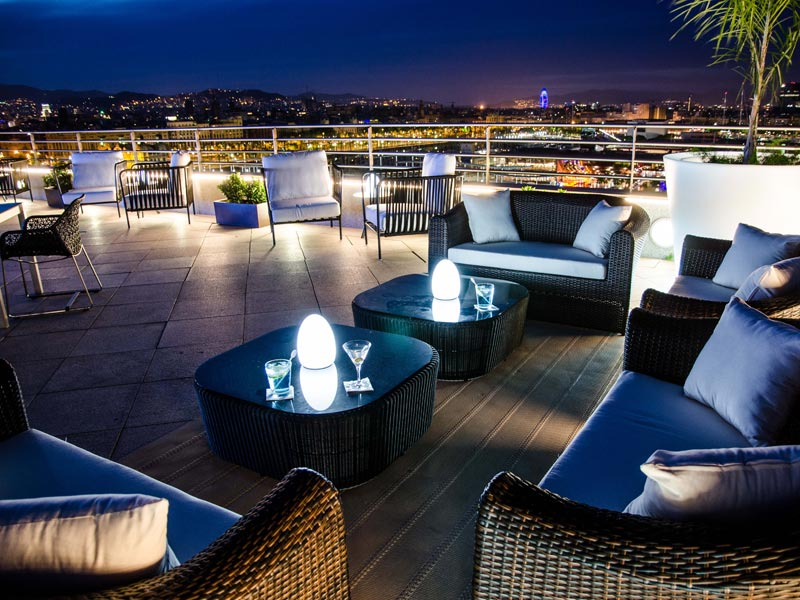 terraza hotel barcelona